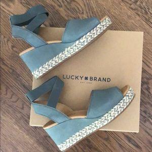 Lucky Brand Bettanie Espadrille Wedge - Size 9